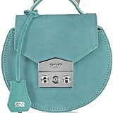 Salar Carol Sea Green Nubuck Mini Shoulder Bag