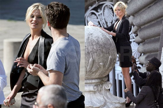 Photos of Kate Moss Working and Smoking in Paris