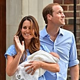"Noting that the media had been waiting for the royal baby's arrival for some time, Prince William said, ""I'll remind him of his tardiness when he's a bit older. I know how long you've all been standing here so hopefully the hospital and you guys can all go back to normal now and we can go and look after him."""