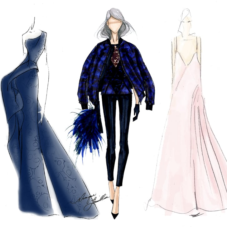 Clothes Sketches Designs | Fall 2014 New York Fashion Week Designer Sketches Popsugar Fashion