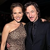 Dexter actress Julie Benz stopped for a snapshot with Lincoln star John Hawkes.