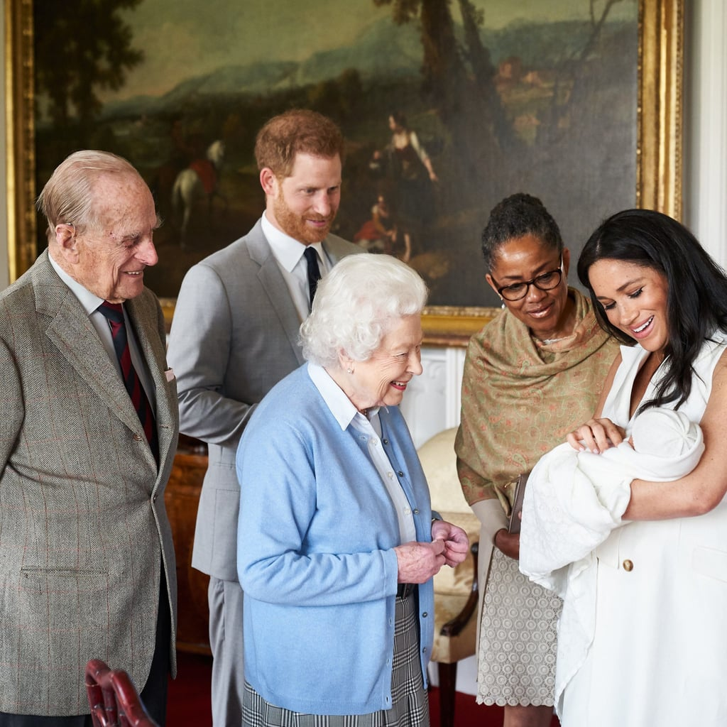 He's already made his Instagram debut. Shortly after baby Archie's first royal appearance, his parents shared photos from the event on Instagram, marking Archie's Instagram debut.   His birth made history. When baby Archie was born, he made history as the first British-American baby born into the royal family. He's also the first mixed-race royal family member. What an icon!    He doesn't have a royal title — at least for now, anyway. Harry and Meghan have decided not to give their son a royal title, so for now he'll simply be Master Archie. However, this will change in the future when Prince Charles becomes king. Then, he'll be known as Prince Archie.  He's seventh in line to the British throne. Following the birth of Prince Louis, Harry moved down a spot to sixth in line for the throne, making Archie seventh.