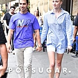 Joe Jonas and Sophie Turner Wearing Party Hats in NYC 2019