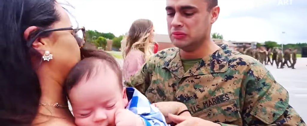 Marine Meets Newborn Son For First Time