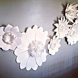 Love this paper flower installation at Alicia K. Designs studio.