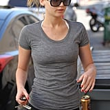 Jennifer Lawrence made her way into the gym.