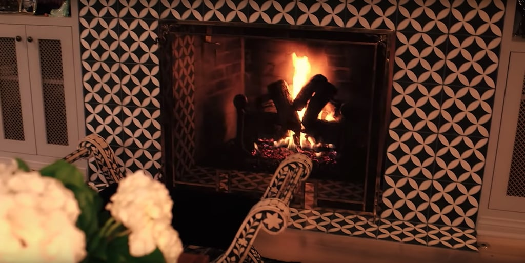 According to Taylor, her fireplace was the coolest part of her family room, and we have to agree!