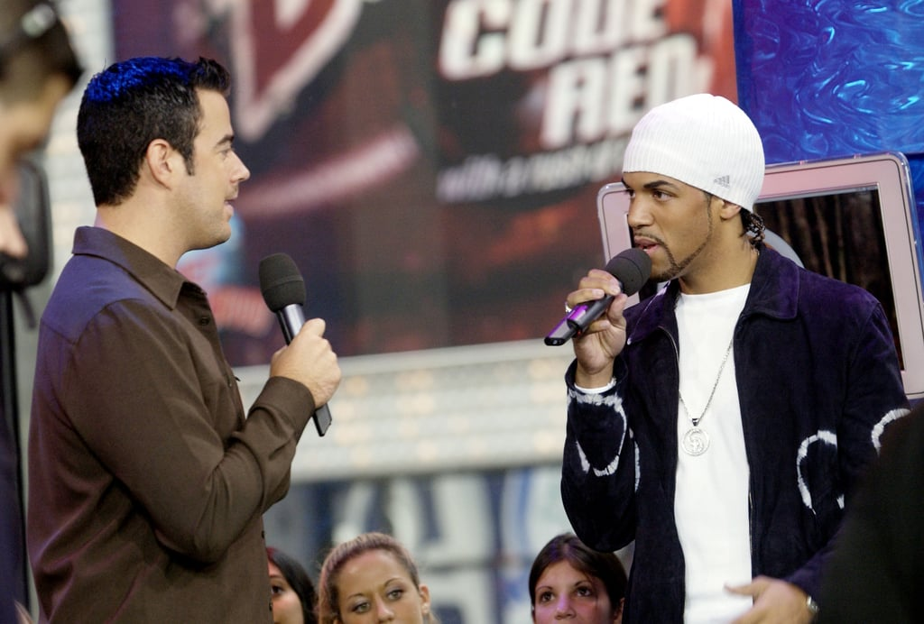 Carson Daly interviewed Craig David in the TRL studios in 2001.