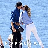 The pair shared a sweet smooch while vacationing in Italy in September 2016.