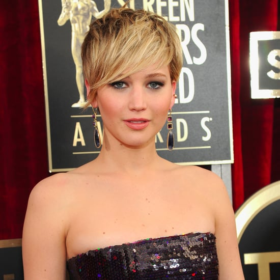 Jennifer Lawrence Hair, Makeup & Beauty At 2014 SAG Awards