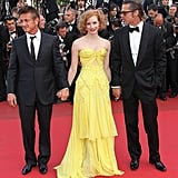 Jessica Chastain wore a Zac Posen dress at the 2011 Cannes premiere of The Tree of Life.