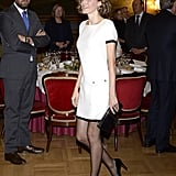 Queen Letizia of Spain wearing Felipe Varela.