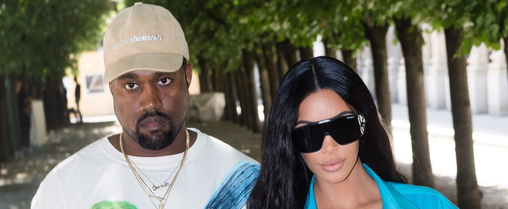 Kim Kardashian and Kanye West at Paris Fashion Week 2018