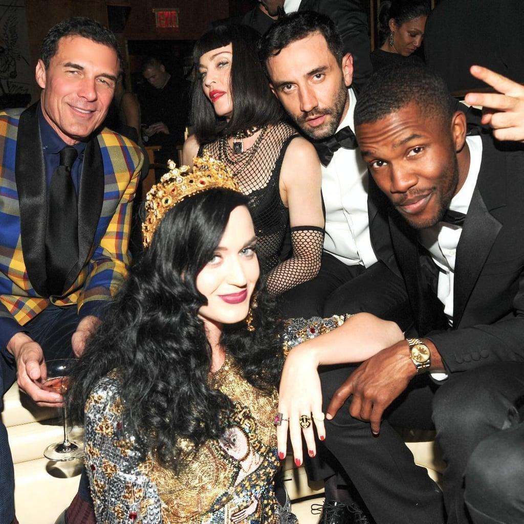 André Balazs, Katy Perry, Madonna, Riccardo Tisci, and Frank Ocean. Source: Neil Rasmus/BFAnyc.com