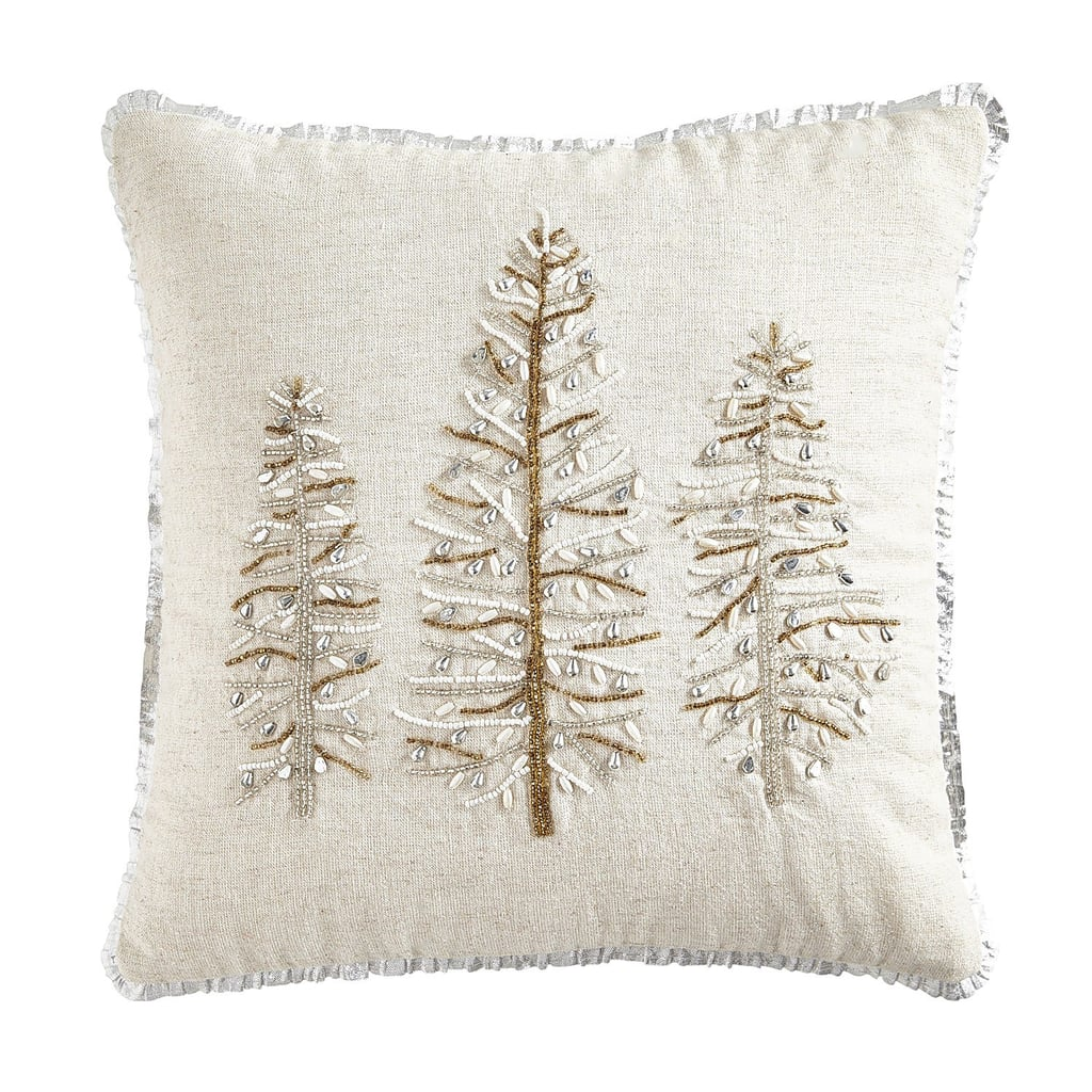 Gold and Silver Trees Pillow