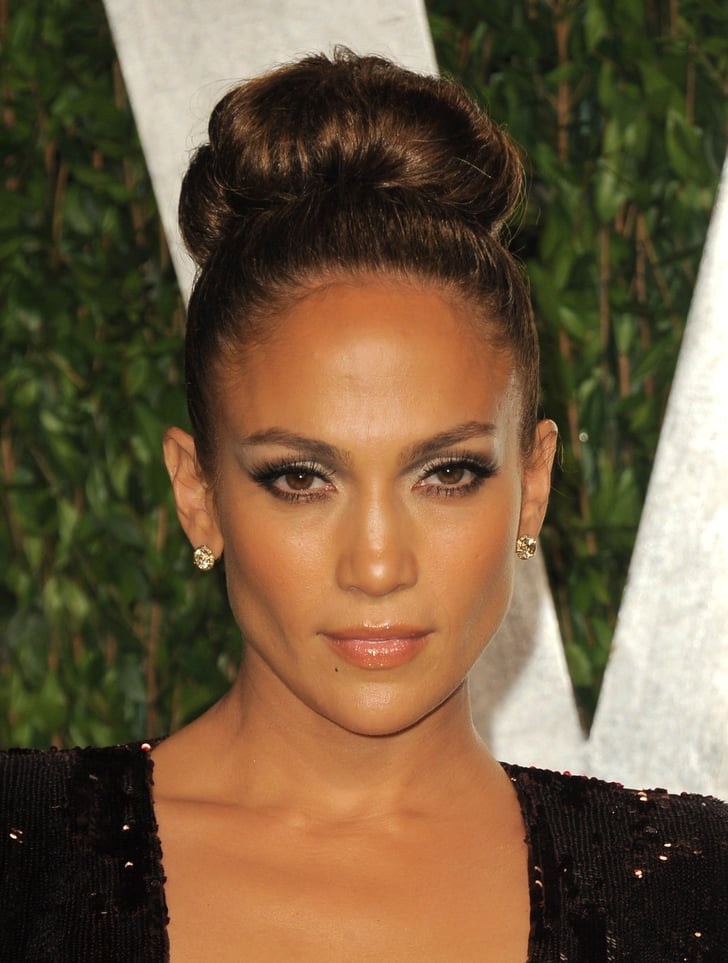 celebrity hair up styles up at the vanity fair afterparty 4716 | Jennifer Lopez up close Vanity Fair afterparty
