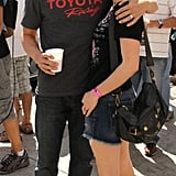 Anna Paquin and Stephen Moyer hugged it out at the Toyota Pro/Celebrity Race in April 2011 in Long Beach, CA.