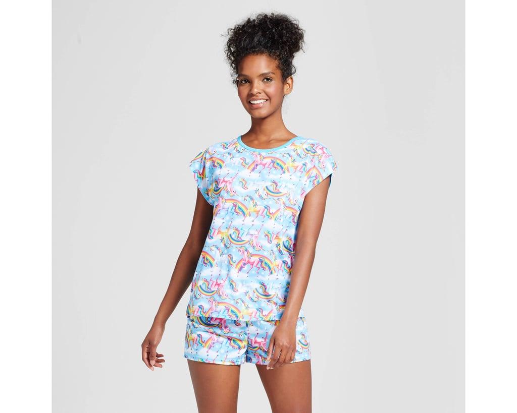 Lisa Frank Tee & Shorts Pajamas Set