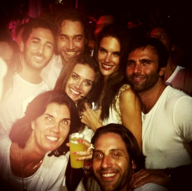 Alessandra Ambrosio partied with a group of pals.  Source: Path user Ale Ambrosio