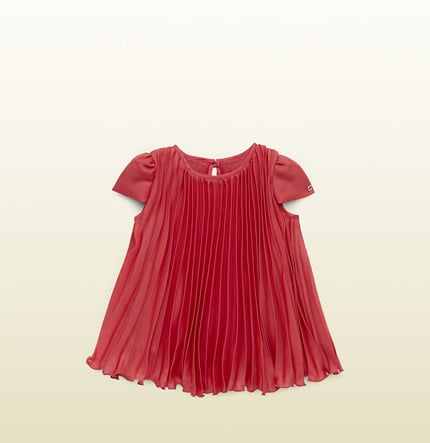 Watermelon Silk Pleated Dress ($390)