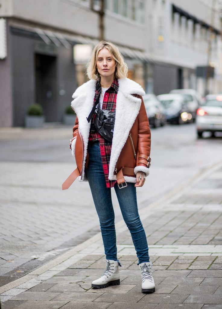 Style One Around One Shoulder and Wear It With a Shearling Coat