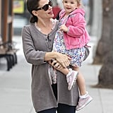 Pregnant Jennifer Garner out in LA with Seraphina.