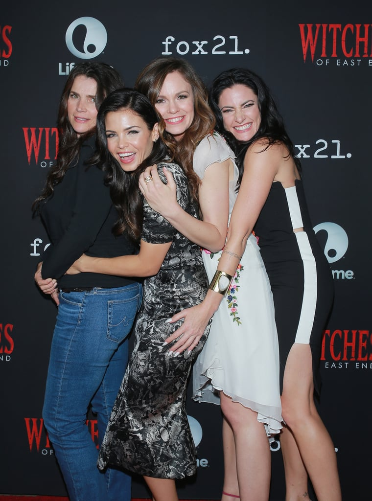 Jenna Dewan had fun with her Witches of East End costars on Thursday.