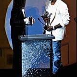 "Kanye West, who famously wore Celine to perform at Coachella in April, said upon presenting Phoebe Philo with her International Award: ""Phoebe Philo is one of the elite special forces in fashion."" Then, he confessed: ""I happen  to be the biggest fan of everyone in this room. Those times I  go to  Style.com and I click, and those times I don't get into the shows,   there's no show that I would like to click more than the Celine show."""