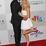 Hank Baskett and Kendra Wilkinson at the Golden Globes.