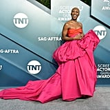 Cynthia Erivo's Pink and Red Gown at the SAG Awards 2020
