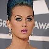 Katy Perry had blue hair at the 2012 Grammys.