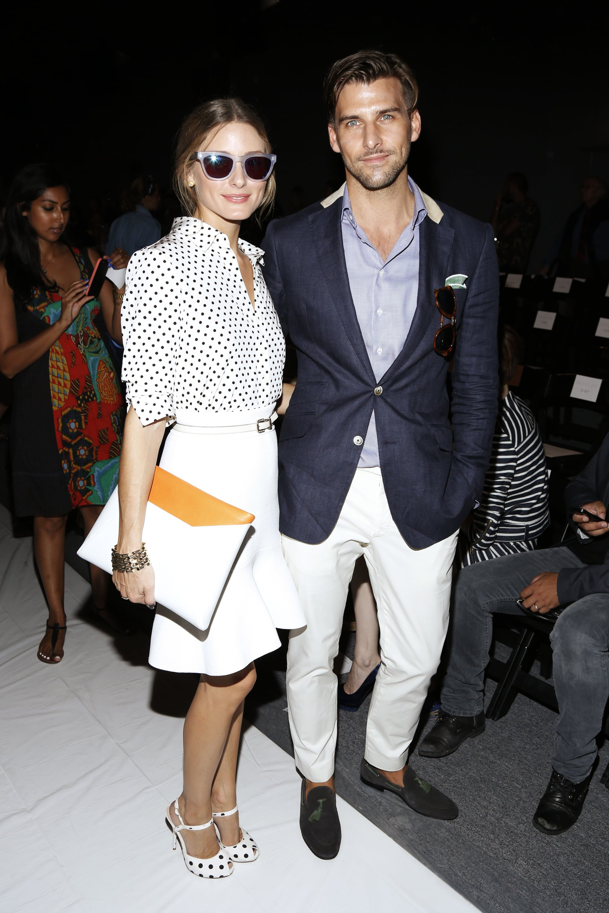 Olivia Palermo was joined by her boyfriend, Johannes Huebel, at the Rachel Zoe runway show on Wednesday.