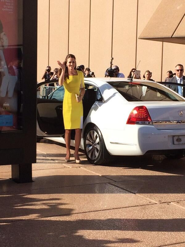 Kate waved at fans when she arrived at the Sydney Opera House. Source: Twitter user channeltennews