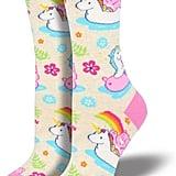 Cheer Bear Unicorn Float Socks Cream