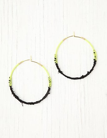 Free People Neon Tatty Wrapped Hoop Earrings ($18)