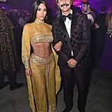 Kim Kardashian and Jonathan Cheban as Cher and Sonny For Halloween in 2017