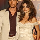 Matthew McConaughey and Penélope Cruz in 2005