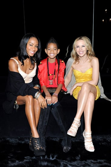 Jada Pinkett Smith and daughter Willow sitting front row at the Dolce &Gabbana S/S 2011 Fashion show during Milan Fashion Week