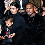 Baby North, Kim Kardashian, and Kanye West