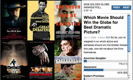 Who Should Win the Golden Globes Tonight? Vote Now!