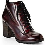 Steve Madden Burgundy Andie Lace-Up Booties