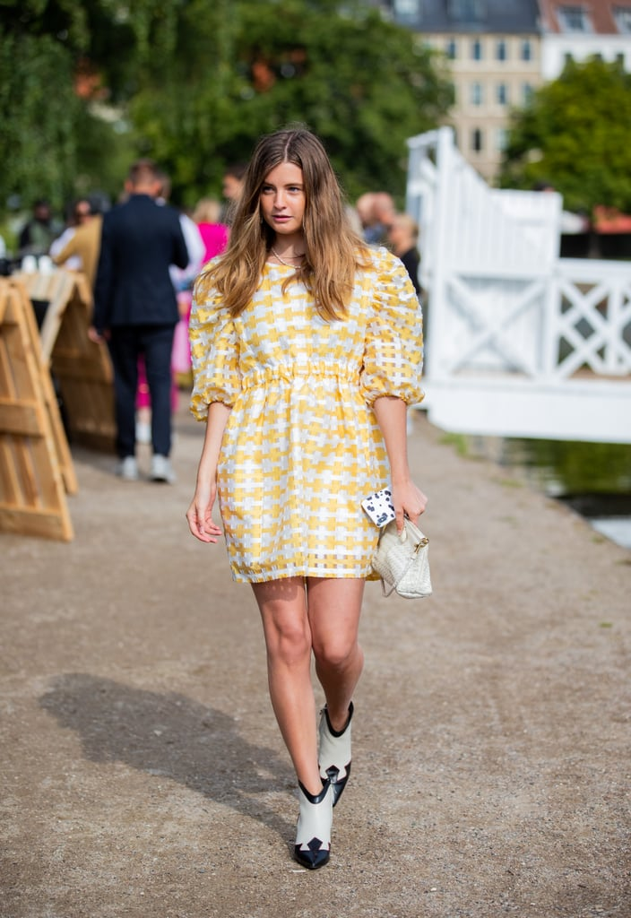 Street Style Trend: Puff-Sleeve Dress