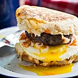 Campfire Breakfast Burgers With Black Pepper Biscuits