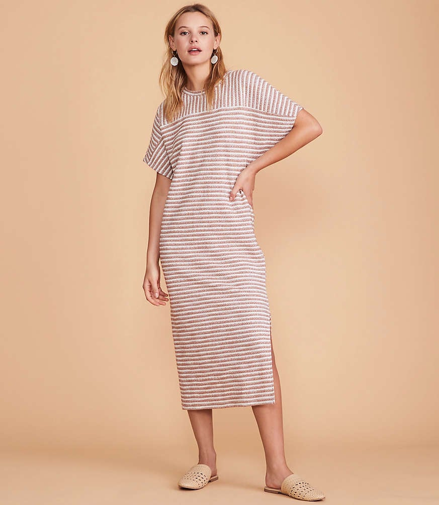 Tweedstripe Midi Dress