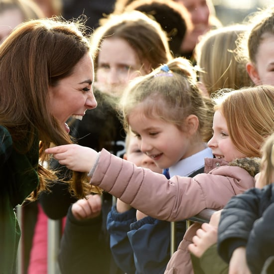 Girl Touching Kate Middleton's Hair in Scotland Jan. 2019