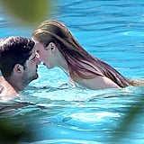 Whitney Port leaned in for a kiss.