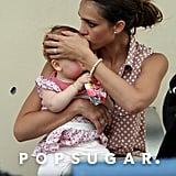 Jessica Alba kissed Haven at an NYC playground.