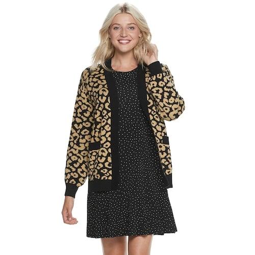 Cheetah-Print Cardigan