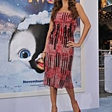 Sofia Vergara in a strapless dress at the Happy Feet Two premiere.