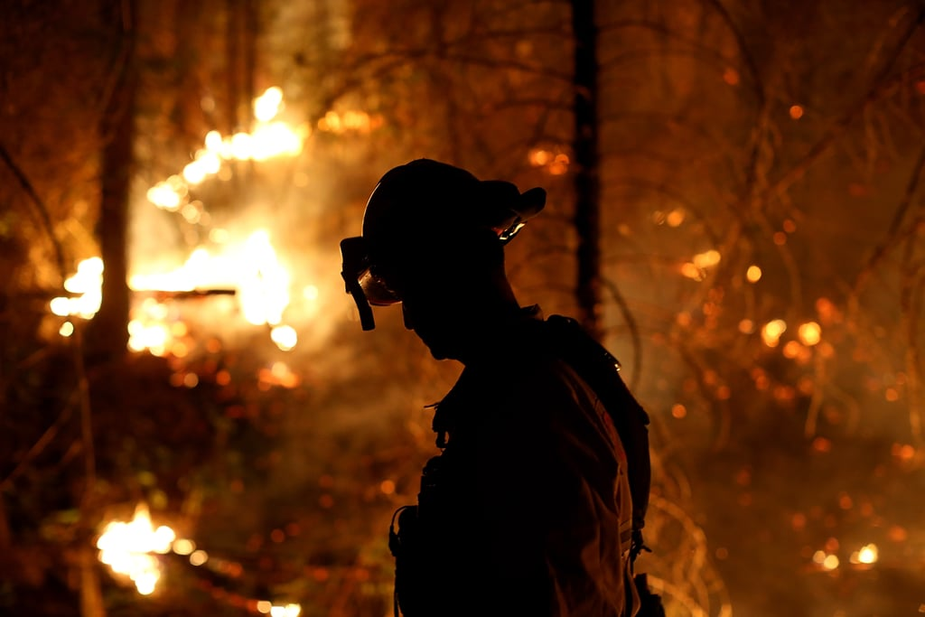 The US Forest Service has announced that a hunter's illegal fire led to the massive California Rim Fire that's burned almost 240,000 acres near Yosemite National Park. An investigation is under way, but since the Rim Fire started on Aug. 17, it has drawn more than 4,000 firefighters to the area to battle the flames. Shocking pictures of the devastation have been circulating, including an incredible time-lapse video and one astronaut's unbelievable view from space. So far, the fire is 80 percent contained, but its overwhelming devastation makes it the largest wildfire in the Sierra Nevada's history and the fourth largest in the state of California. Keep reading to see the time-lapse video, an aerial view from space, and the most stunning pictures of the Rim Fire.